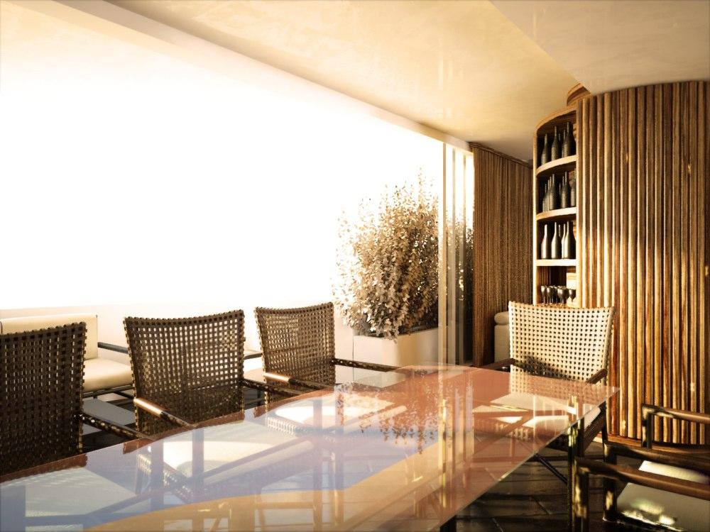 archimora - attico con piscina - 0012
