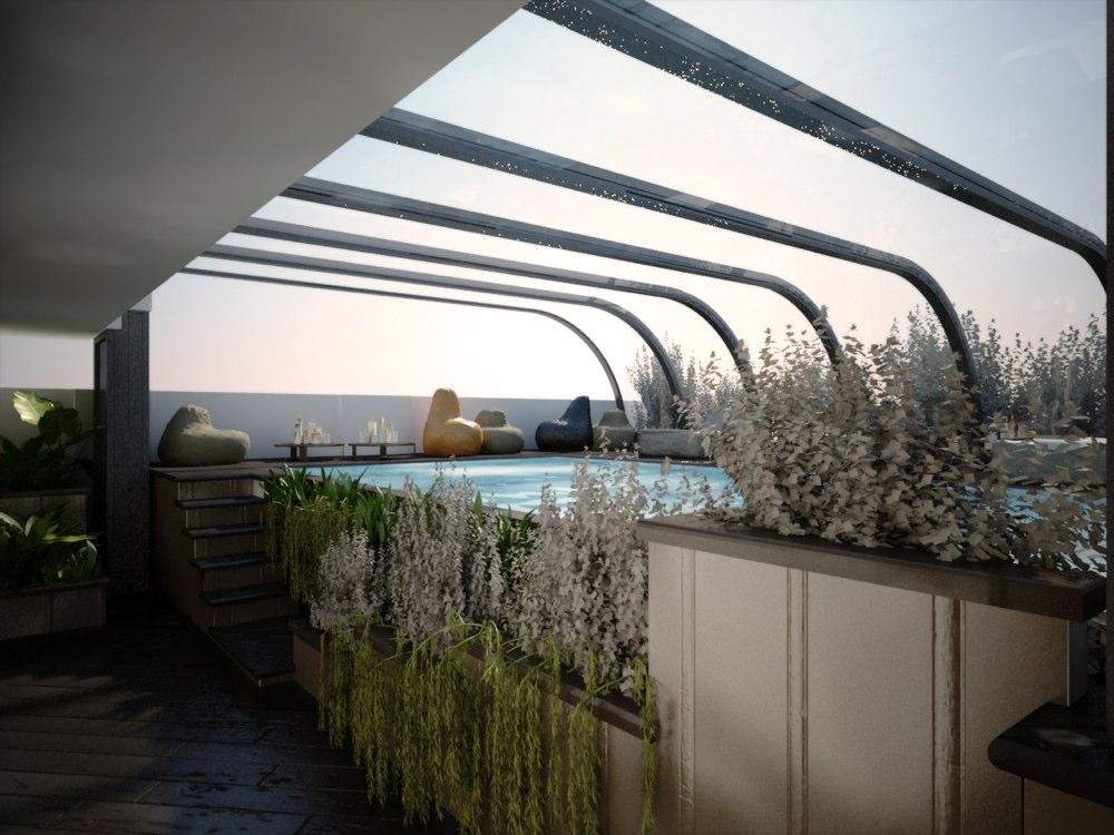 archimora - attico con piscina - esterno- 0016